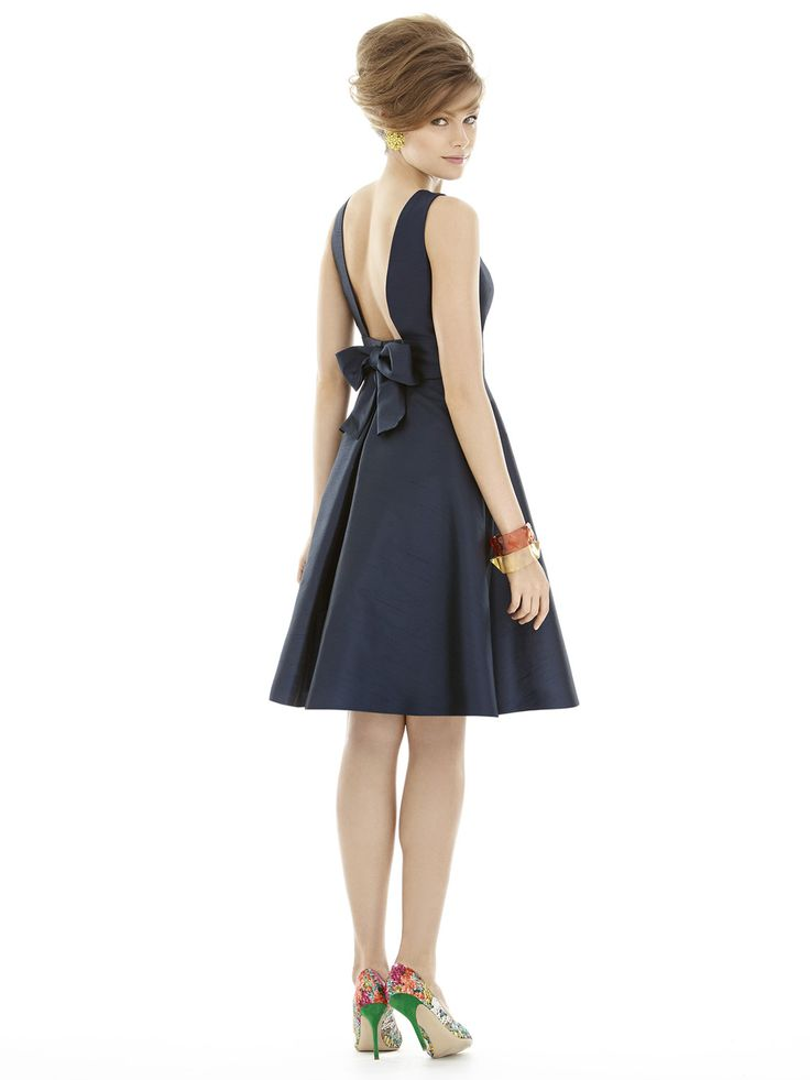 new cocktail dress #bow #bridal #midnight