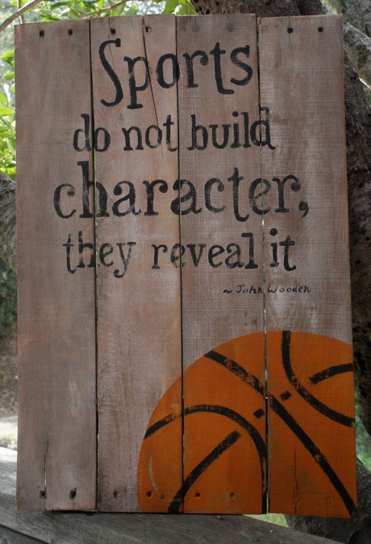A personal favorite from my Etsy shop https://www.etsy.com/listing/225864543/hand-painted-wooden-basketball-sign