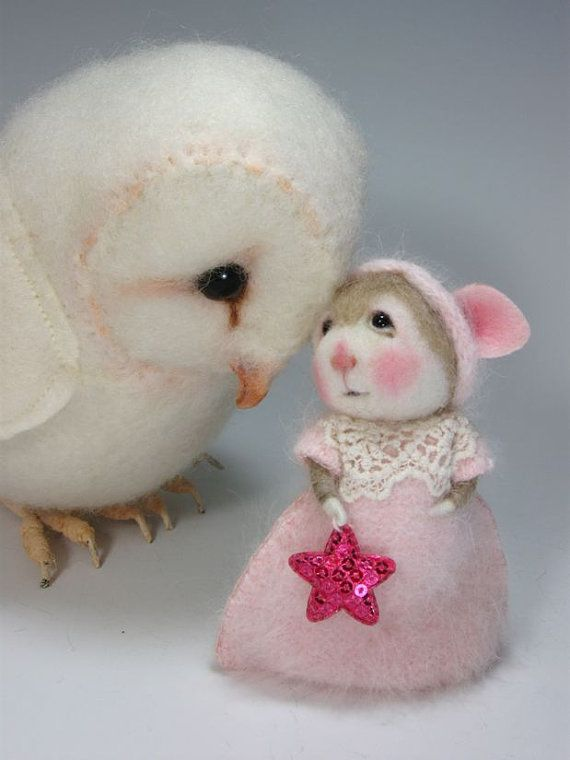 Dressed Mouse/Bunny Class Needle Felting Needle Felted by barby303