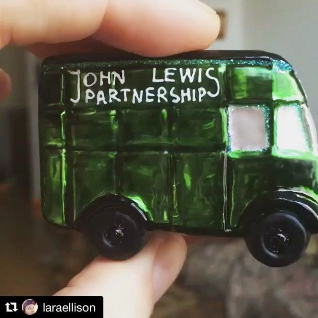 Thanks for showing an awesome close up of our Little John Lewis Van! @laraellison  Available to purchase from johnlewis.com (search 'bombki') #festive #handpainted #christmasdecorations #baubles #unique #christmasgift #greenvan #glassbaubles  #Repost @laraellison with @repostapp ・・・ My Bauble purchase for this year ##bombki #johnlewis @johnlewisretail @bombki #handmade #christmasdecorations #cute #johnlewisgreenvan #van #delivery #bauble #shinny #green #glassbauble #glassblown…