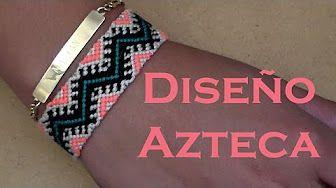 Pulsera de Hilo: Diseño Nativo Americano - YouTube