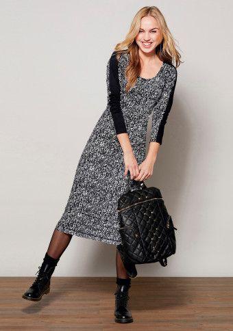 Dvoubarevné dlouhé šaty #ModinoCZ
