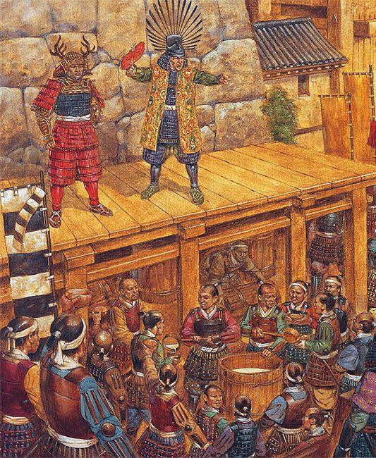 "Richard Hook - ""Toyotomi Hideyori prepares to leave Osaka Castle for the last time, 4 june 1615"""