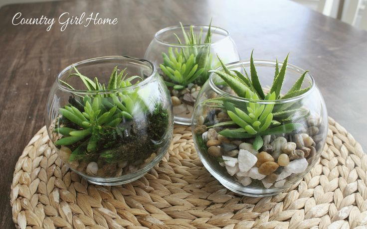 COUNTRY GIRL HOME : DIY Artificial Succulent Jars