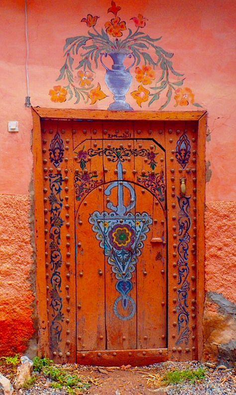 Puerta decorada