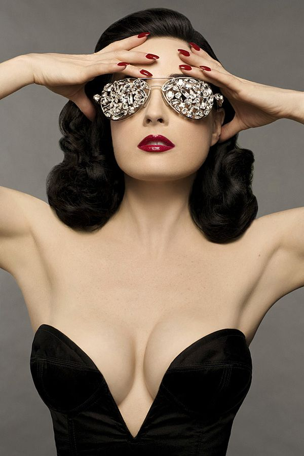 Glamour shot from Dita's upcoming beauty book.  LOVE.