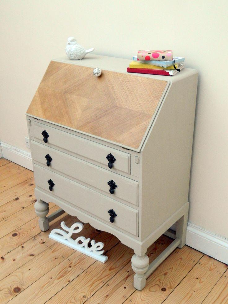 Beautifully refurbished Bureau  Annie Sloan Country Grey