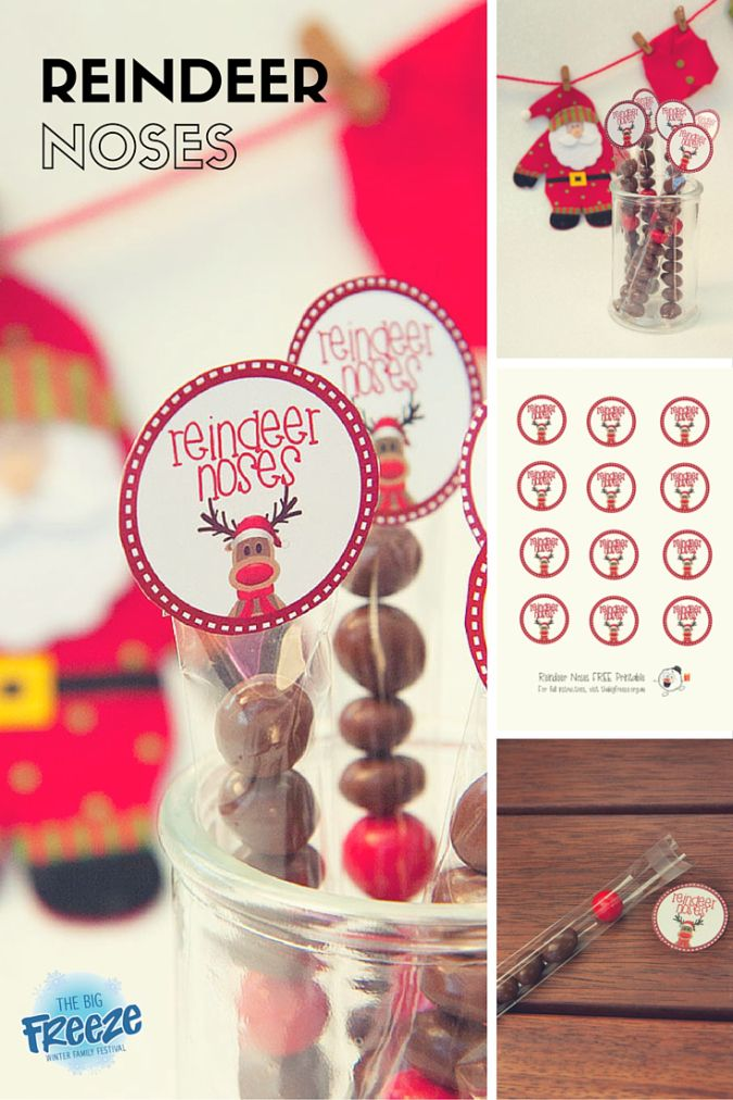 Reindeer Noses by The Big Freeze - includes free printable to create a simple gift idea