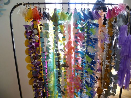 Curtain of colour Wedding decor by Paper Street Dolls Check out our site - paperstreetdolls.etsy.com