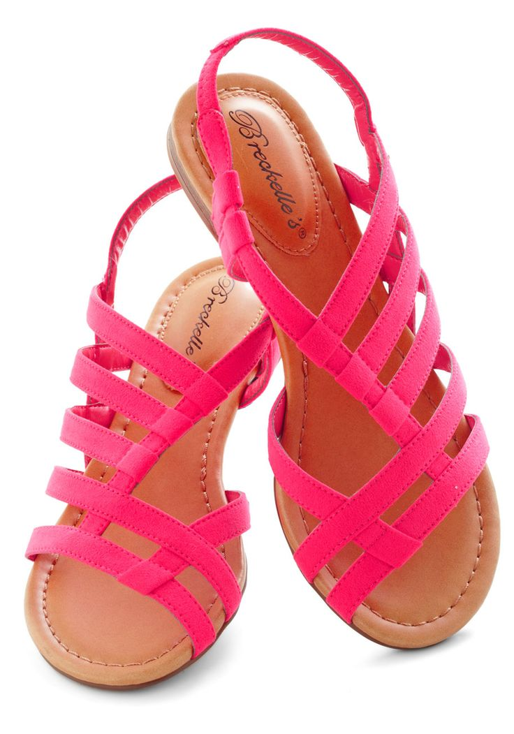 White Sand Shores Sandal in Pink - Pink, Solid, Flat, Beach/Resort, Summer, Casual, Strappy