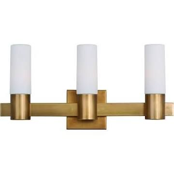 Maxim Lighting Contessa 3 Light Bath Vanity In Natural Aged Brass 22413swnab Bathroom Light Fixturesbathroom