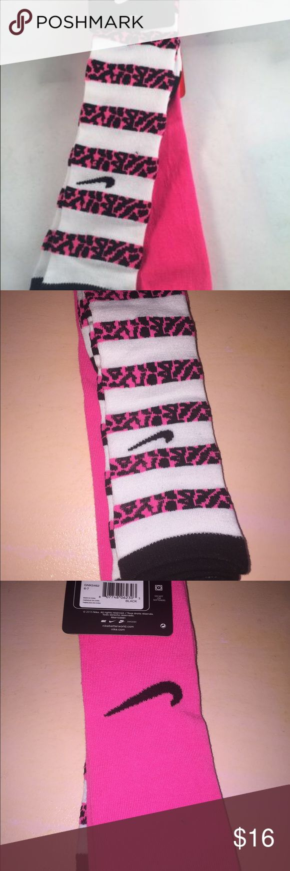NIKE KNEE HIGH SOCKS BUY ANY 5 GET 50% OFF Cool Nike socks. 2 pair. Size 13c to 3y Nike Accessories Socks & Tights