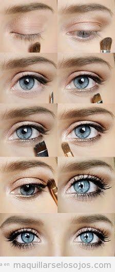 Tutorial para aprender a maquillar los ojos paso a paso                                                                                                                                                                                 Más
