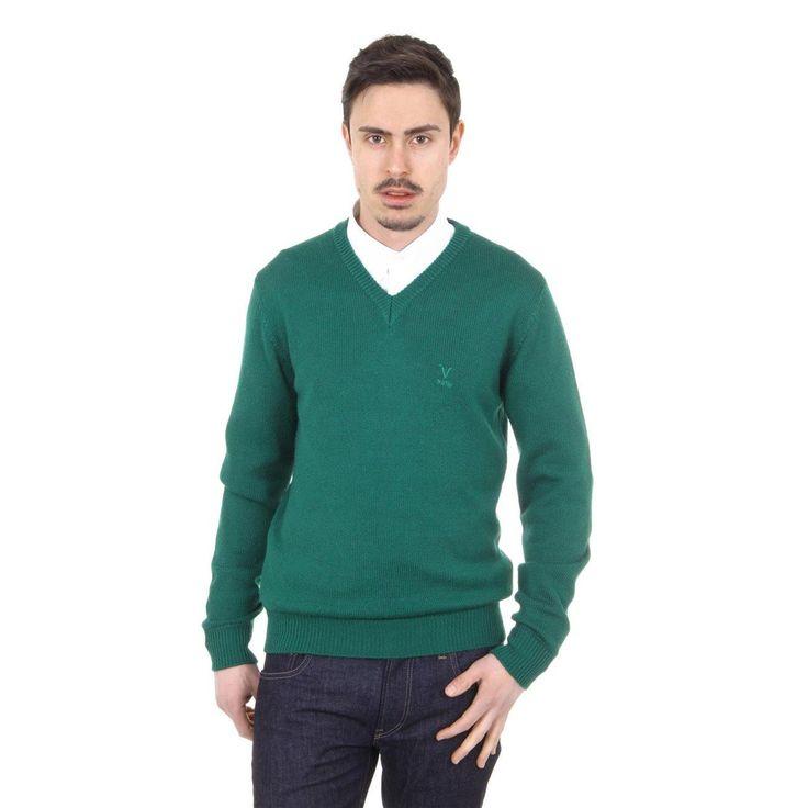 Versace 19.69 Abbigliamento Sportivo Milano mens V neck sweater 9803 SCOLLO V VERDONE