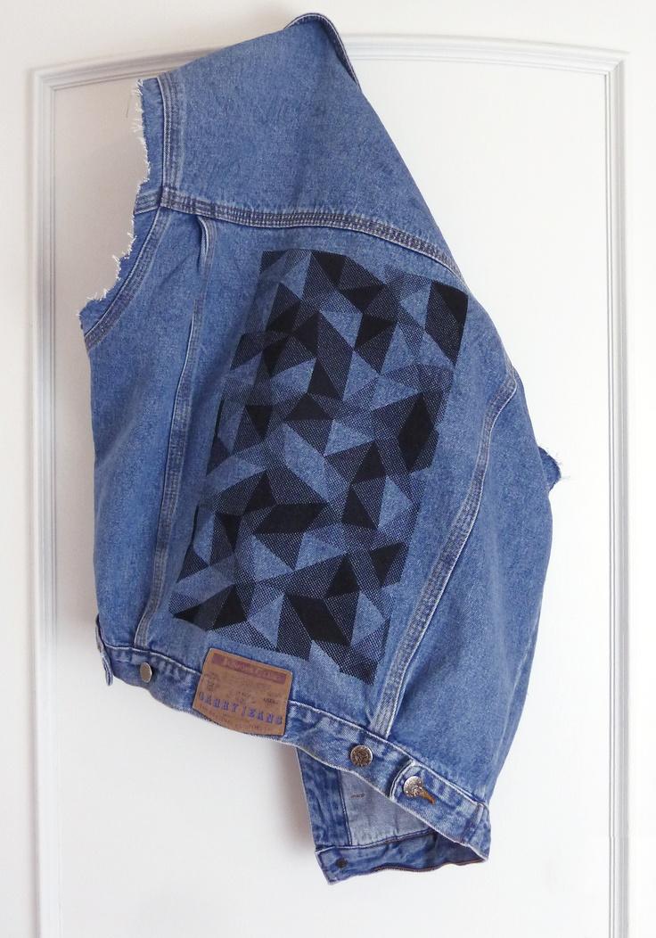 redesigned vintage denim jacket