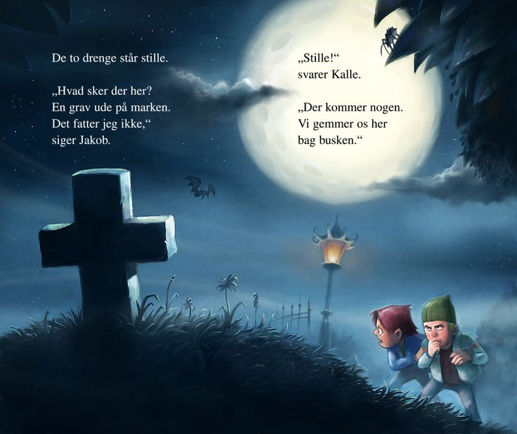 """Spread from a children's book by Per Østergaard, called """"Revenge from the Grave""""."""