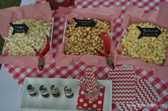 Movies Under the Stars -Popcorn Buffet