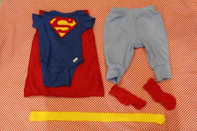 diy infant superman costume