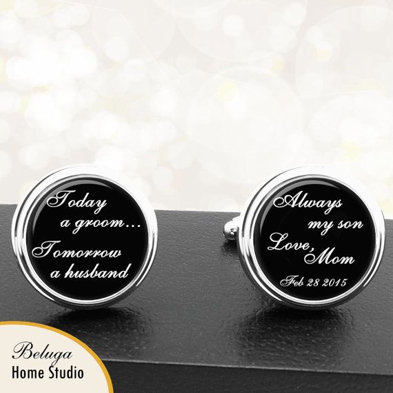 41 Unique Wedding Gift Ideas For Bride And Groom In 2020: Personalized Cufflinks Today A Groom Handmade Cuff Links