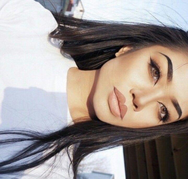 Inner. Corner eyeliner high arched eyebrows                                                                                                                                                                                 More
