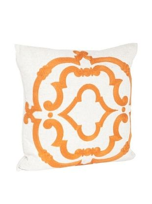 54% OFF Saro Lifestyle Persimmon Embroidered Design Pillow