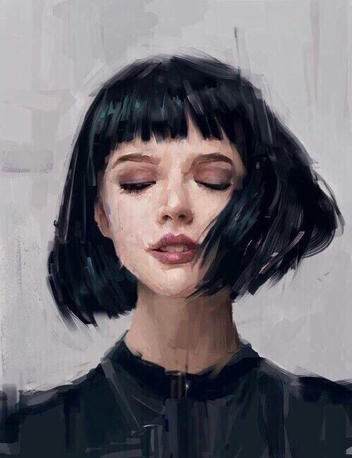 Портрет девушки брюнетки. Картина маслом. Живопись