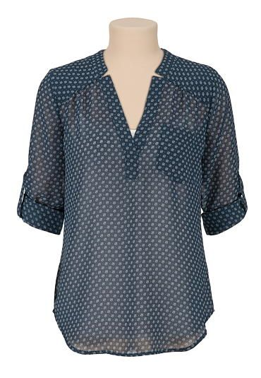 I need blouses! Preferably ones that can be tucked into a pencil skirt and layered under a blazer.