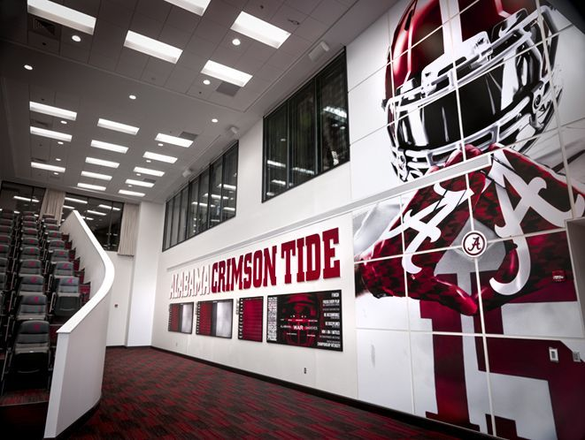 Sports Graphics University Of Alabama School Design Large Format Environmental Football Crimson Tide Wall Roll