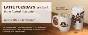 second-cup - Tuesdays-lattes