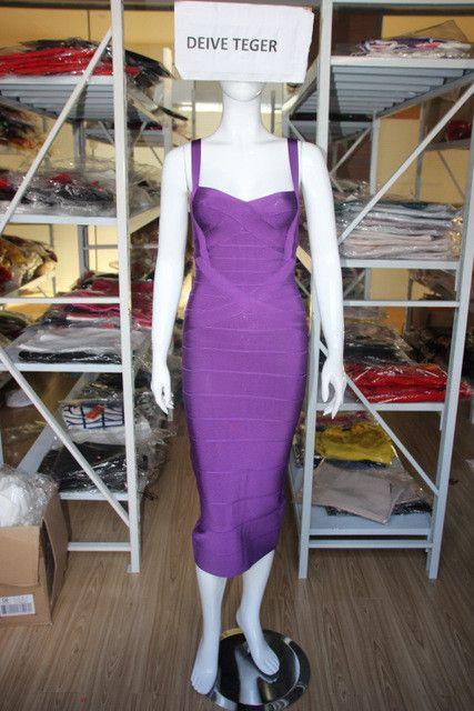 DEIVE TEGER 10 colors WINTER below knee bandage dress women Party Dresses lady club dress