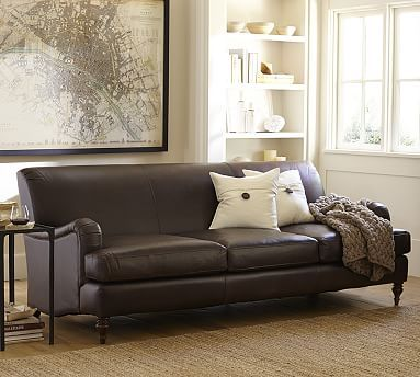 carlisle leather sofa 78 inch pottery barn