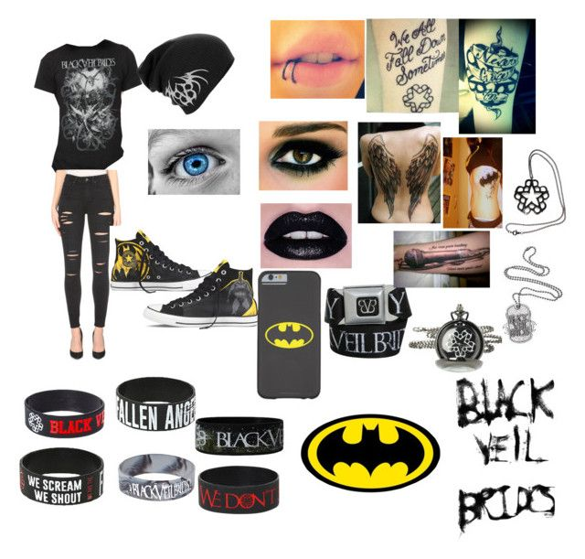Black Veil Brides/ Batman by blade-trista18 on Polyvore featuring art