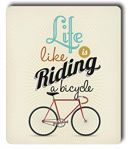 Zenzzle Computer Accessories Rectangle Mouse Pad - Retro Illustration 'Life Is Like Riding A Bicycle' Zenzzle http://www.amazon.com/dp/B00NM513N8/ref=cm_sw_r_pi_dp_lcrKub1NE3DMR