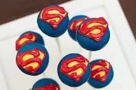 Superman cake pops