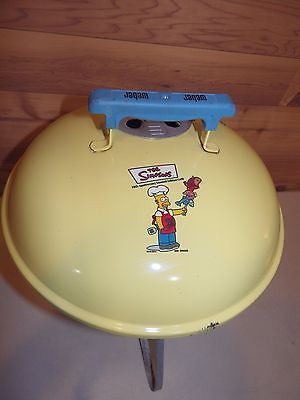 Simpsons 10th Anniversary Homer Weber Smokey Joe Barbecue Grill, Nice Used