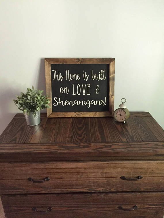 Download This Home Is Built On Love and Shenanigans Farmhouse Sign ...