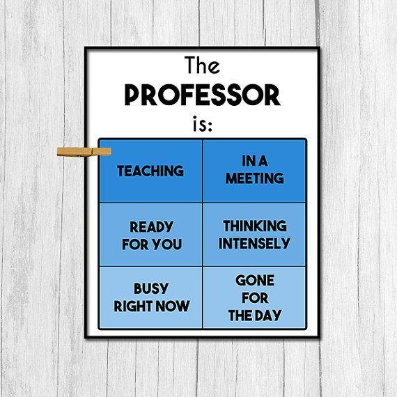 Professor Gift Door Sign Digital Download Gift for Professor Door Decor Office…