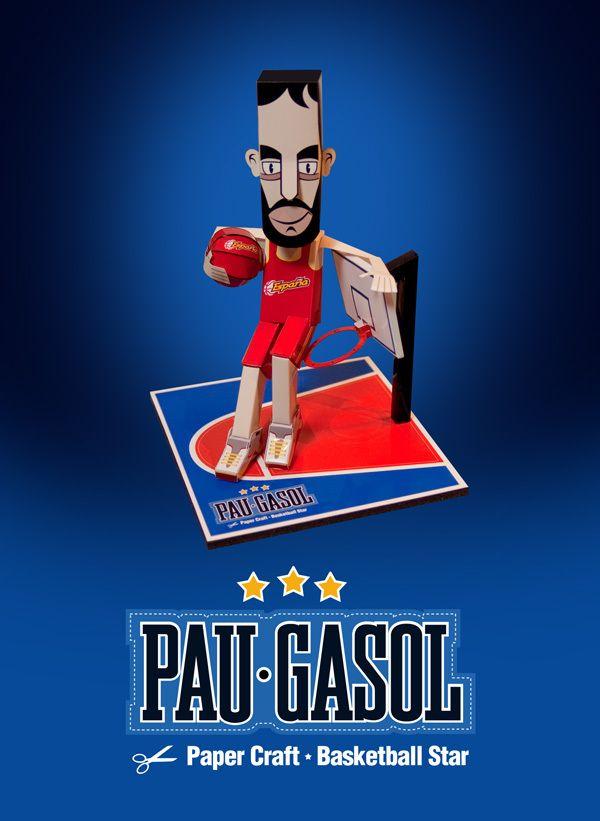 Pau Gasol - Paper Basketball Star by Luis Vanegas