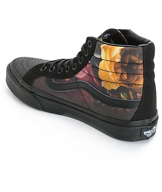 Vans Sk8-Hi Slim Ombre Floral Shoes (Womens)