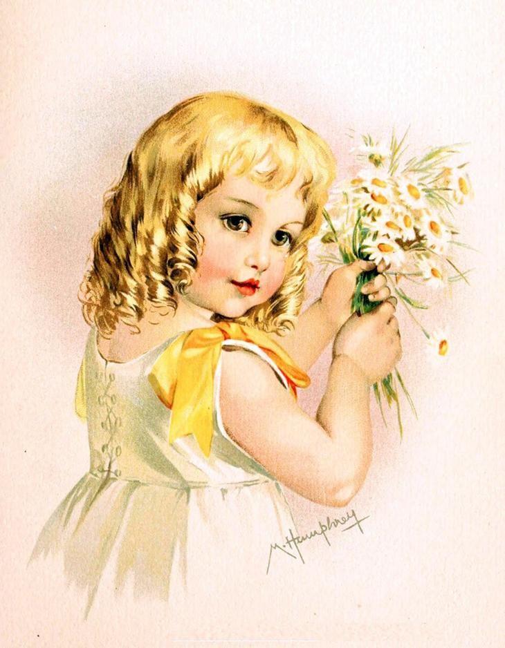 Зарубежные открытки о детях, зодиакальные созвездия