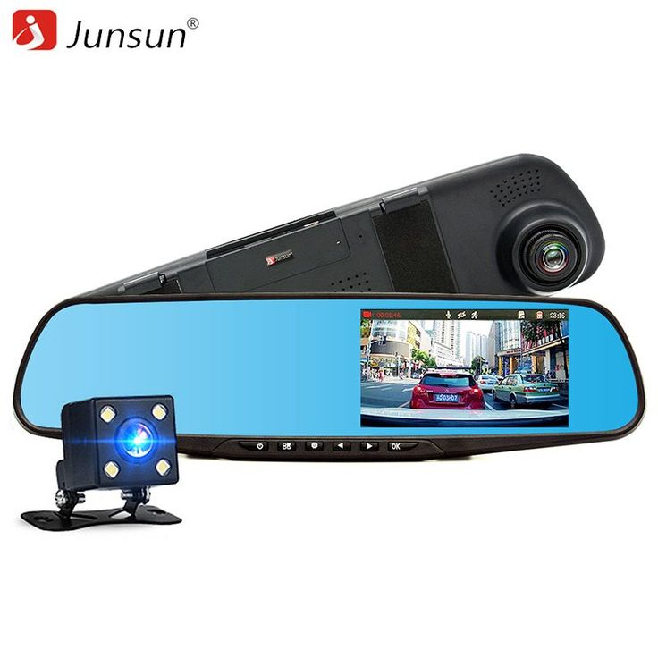 Junsun Car DVR Dual Lens Full Rear view Mirror Dashcam //Price: $56.58 & FREE Shipping //     #android