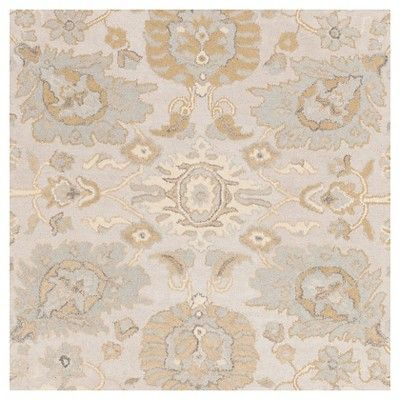 Cynwrig Area Rug Light Gray Tan 8 X 10 Surya
