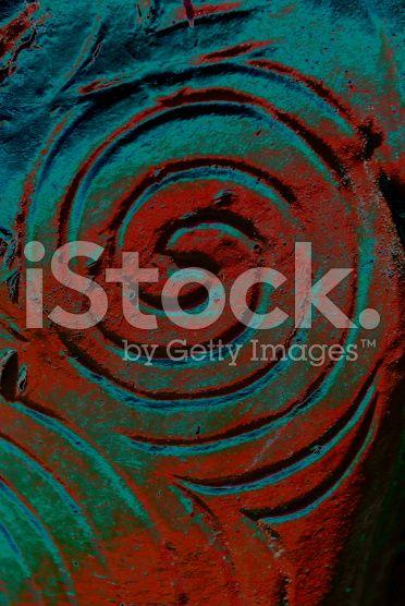 Maori Carved Spiral Koru in Negative Image royalty-free stock photo