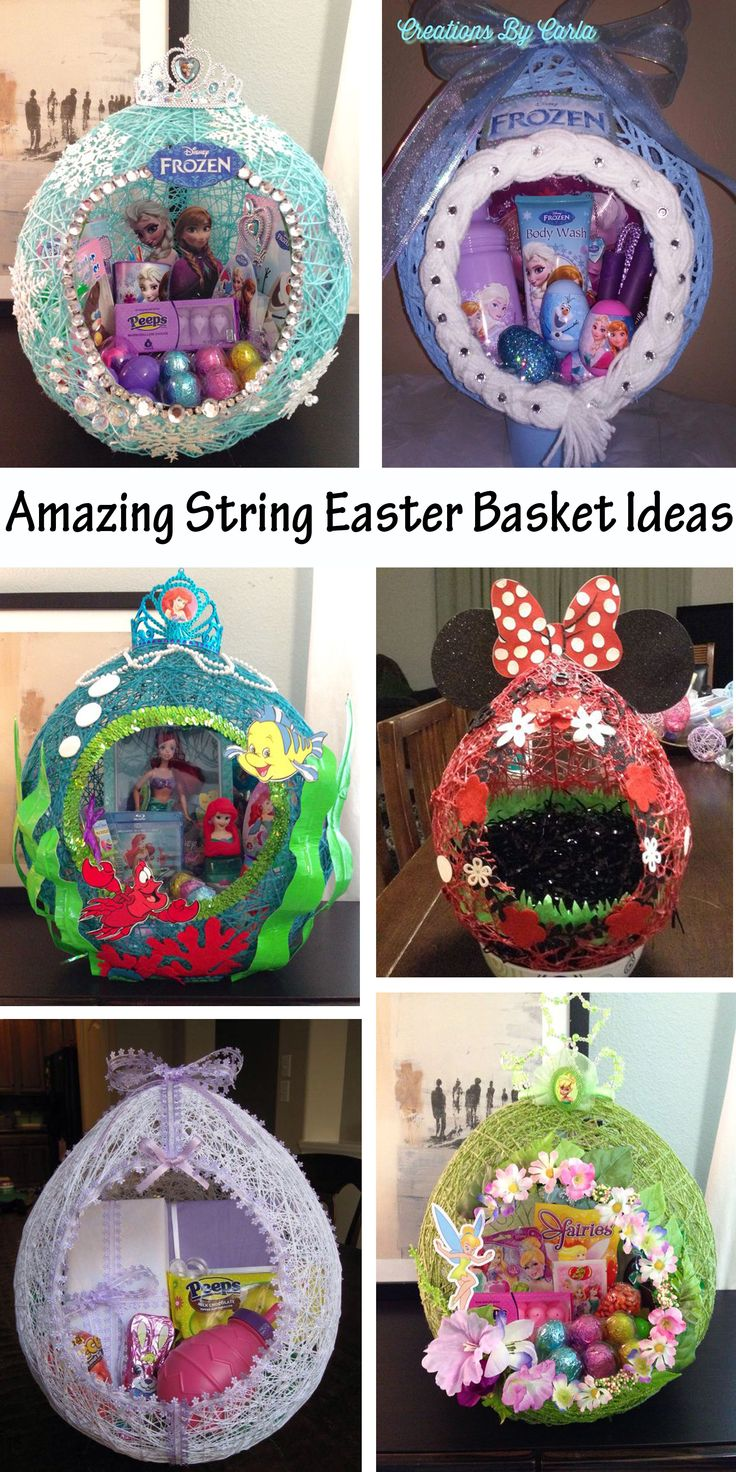Amazing Easter String Baskets
