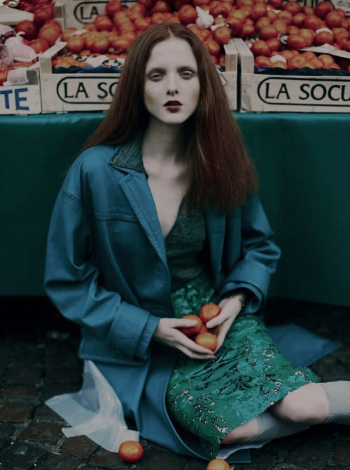 """Grandma's girl"". Madison Stubbington by Fanny Latour-Lambert for Grey Magazine"