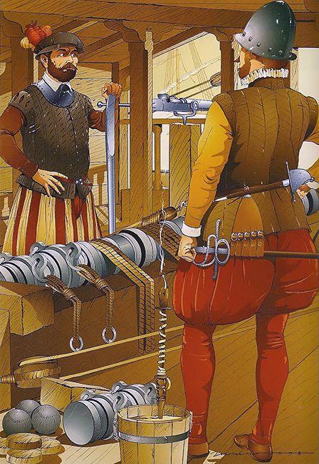 "Dionisio Álvarez Cueto: ""Artillería española, Batalla de Lepanto, 7 de octubre de 1571""."