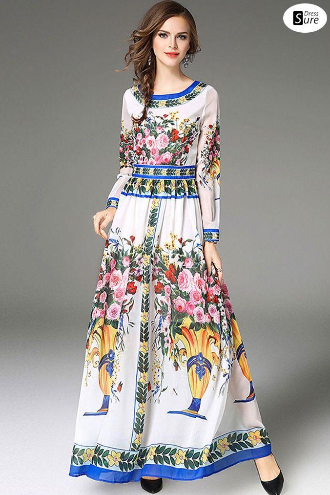 886d734905906 Seaside scenery, beautiful moments @DressSure #DressSure Vintage floral  dresses that make you look good.