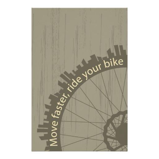 Vintage bike poster