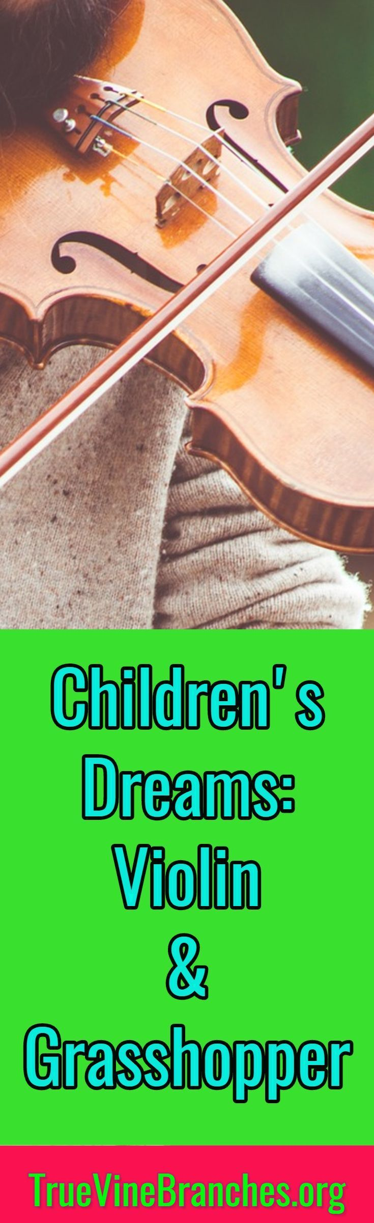 Learn how to interpret biblical dreams. Read a real dream and the interpretation given as it relates to violins and grasshoppers. Biblical dream interpretation, hearing God's voice, prayer, faith, hope, love, inspiration, encouragement.