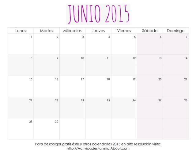 Me encantaron estos calendarios 2015 para imprimir, tienen un diseño femenino súper lindo.: Calendario Femenino Junio 2015